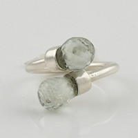 Praisiolite Sterling Silver Adjustable Ring