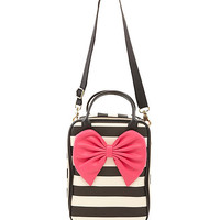 Betsey Johnson Bow Tails Striped Lunch Tote | Dillards