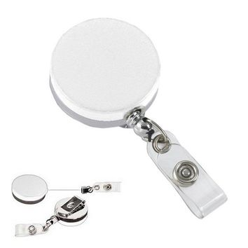 Badge Holder Nurses Retractable White Metal Heavy Duty Think Med 01817