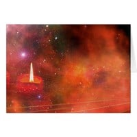 Christmas Galaxy Candle Card