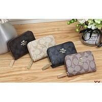 COACH Tide brand female multi-function zipper wallet card package