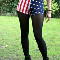 Stars and Stripes Hotpants Shorts American Flag Retro Print by Fashioncasuals - Chictopia