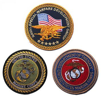 Embroidered U.S. Marines corps  Patches military insignia U.S army  eagle hook  patches tactical for cloth jacket