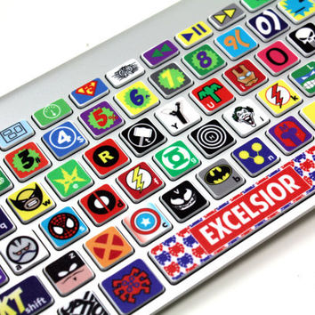 Macbook Keyboard Super Hero Skin by killerduckdecals on Etsy