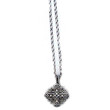 Cathedral Ornate Jerusalem Cross sterling Silver Necklace