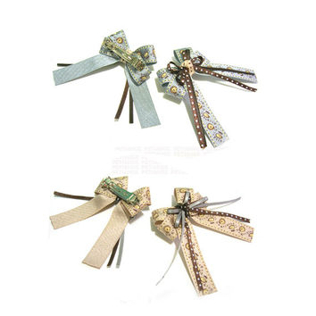 Illustration print Ribbon Hair clip, hair pin, hair accessory for women and kids,