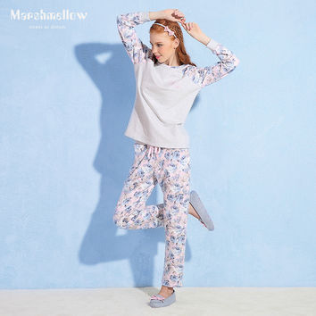 Long Sleeve Cotton Home Sleepwear [9576704015]