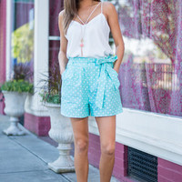 Dot To Bow Shorts, Mint