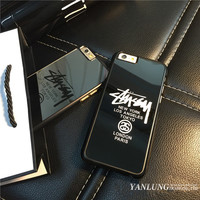 Cases for iPhone 5 5s 6s 6 plus Brand Stussy New York London Paris Case Coque PC Hard Mirror Back Cover Fundas Caso