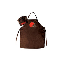 Cleveland Browns Barbeque Apron and Chef's Hat