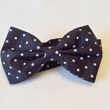 Navy Blue with White Dots