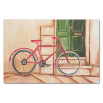 Bicycle Oil Painting 10lb Tissue Paper, White Tissue Paper