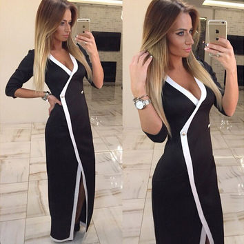 Wrap Style Evening Dress