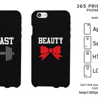 Beauty and Beast Matching Couple Phone Cases - 365 Printing Inc