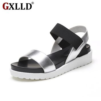 2018 New Hot Sale Sandals Women Summer Slip On Shoes Peep-toe Flat Shoes Roman Sandals Mujer Sandalias Ladies Flip Flops Sandal
