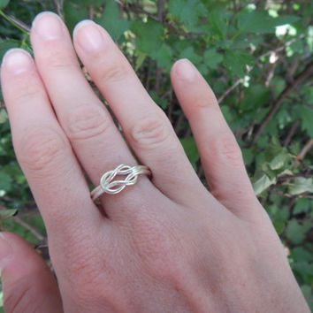 Large Sterling Silver Knot Ring