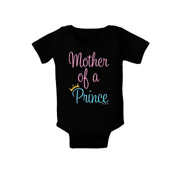 Mother of a Prince - Matching Mom and Son Design Baby Bodysuit Dark by TooLoud