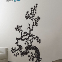 Vinyl Wall Decal Sticker Japanese Asian Flower #407