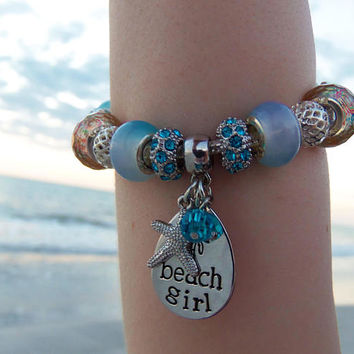 Beach bracelet, beach jewelry, beach lover gifts, beach lovers gift, beaded bracelet, beach girl bracelet, beach gifts for women, european