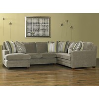 Ricky Contemporary Three Piece Sectional Sofa w/ LAF Chaise by Sam Moore at Baer's Furniture