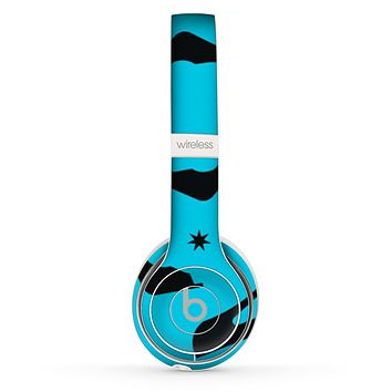 The Blue & Black High-Heel Pattern V12 Skin Set for the Beats by Dre Solo 2 Wireless Headphones