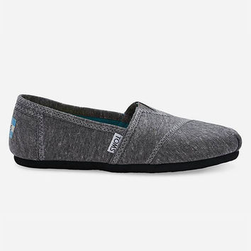 Toms Dark Jersey Womens Classic Slip-Ons Dark Grey  In Sizes