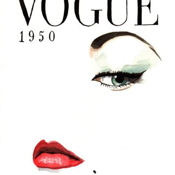 Vintage Vogue Magazine Cover. Fashion Illustration. Art Print by Feeling Artsy | Society6