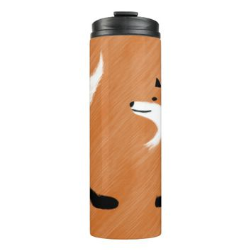 Unique Fox Design Thermal Tumbler