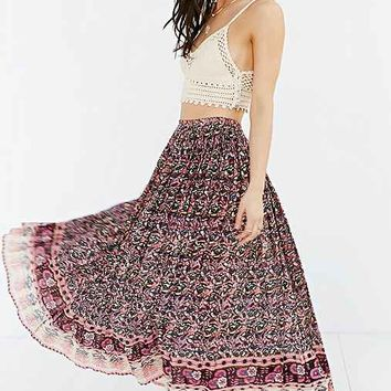 Raga Printed Maxi Skirt- Purple Multi