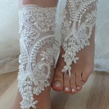 beach shoes,Unique design, bridal sandals, lariat sandals, wedding bridal, ivory accessories, wedding shoes, summer wear, handmade