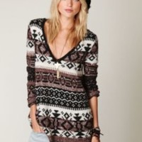 Free People Fairisle VNeck Pullover at Free People Clothing Boutique