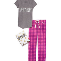 Tee & Flannel PJ Pant Gift Set - PINK - Victoria's Secret