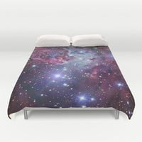 Nebula Galaxy Duvet Cover by RexLambo