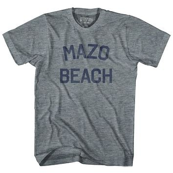 Wisconsin Mazo Beach Adult Tri-Blend Vintage T-shirt
