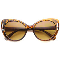 Women's Unique Temple Oversize Cat Eye Sunglasses 9794