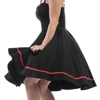 Fly With Me Dress in Black   Blame Betty