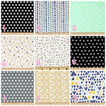 Mini/ Standard Baby Girl Crib Sheet, Modern, Geometric