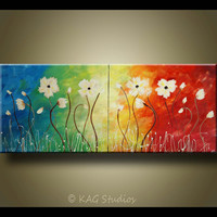 Abstract Flower Art by Kag 20 x 48 inches by kagstudios on Etsy