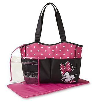Disney Minnie Mouse Diaper Bag with Changing Pad