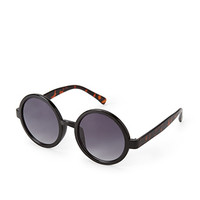 FOREVER 21 Round Sunglasses Black/Brown One