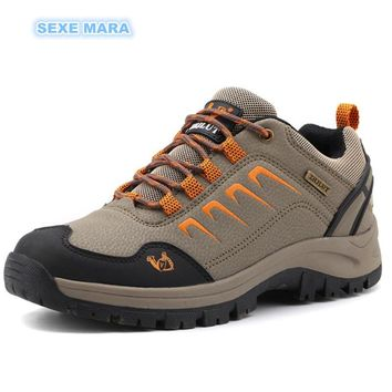 Outdoor Sneakers Autumn Winter leather Sports Shoes Women and Men antiskid Off-road Waterproof Trainers Walking Running Shoes