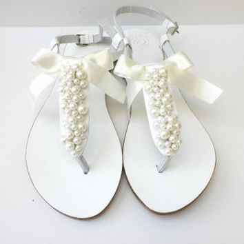 Wedding shoes- Bridal flats- Bridesmaids from dadahandmade on 76a1f79a6