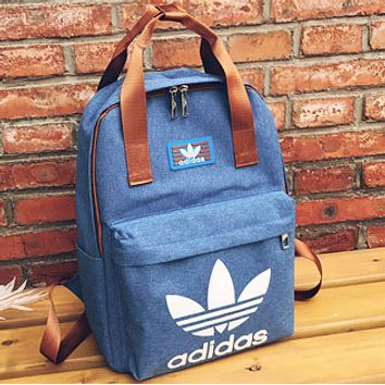 ADIDAS Clover Male and Female Campus College Wind Classic Backpack F-A30-XBSJ Blue