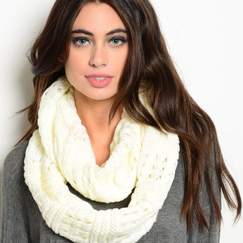 Infinity Scarf in White