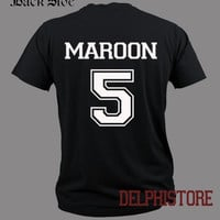maroon 5 shirt adam levine t-shirt printed black and white unisex size  (DL-26)