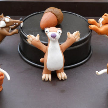 Ice Age fondant cake topper set