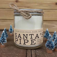 Santa's Pipe Wood Wick Candle