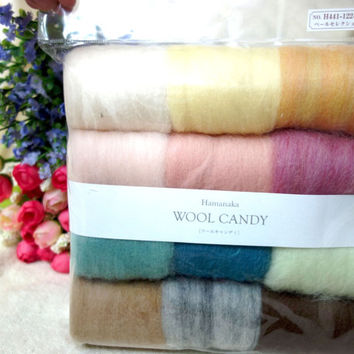 Hamanaka - Japan Wool Needle Felt Crafts Candy 12 color Set  H441-122-2