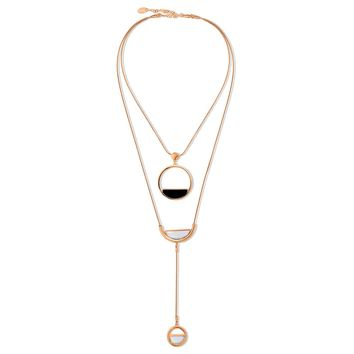 Rose Gold-Tone Open Circle Layered NecklaceBe the first to write a reviewSKU# n1330-03