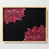Roses are Red Serving Tray by drawingsbylam